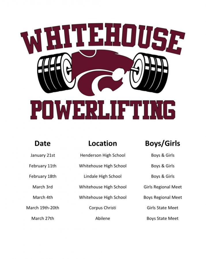 Powerlifting's season schedule
